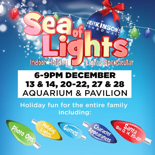 2019 sea of lights at jenkinson's boardwalk